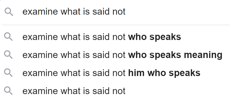 Examine What Is Said Not Him Who Speaks Wordreference Forums He, him, she and her are singular third person pronouns. is said not him who speaks